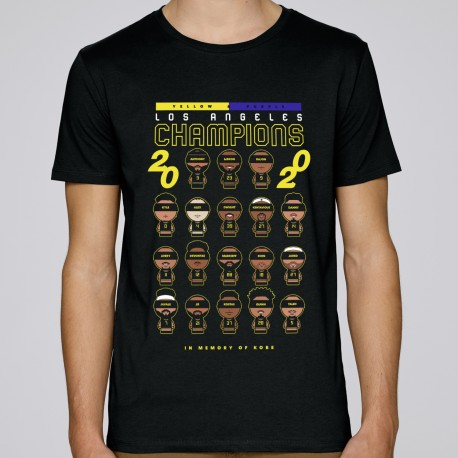 T-shirt Yellow & Purple Los Angeles Champions 2020